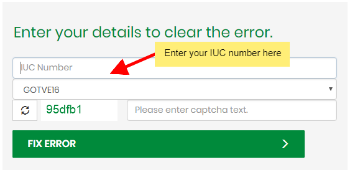 how to clear e16 error code on gotv