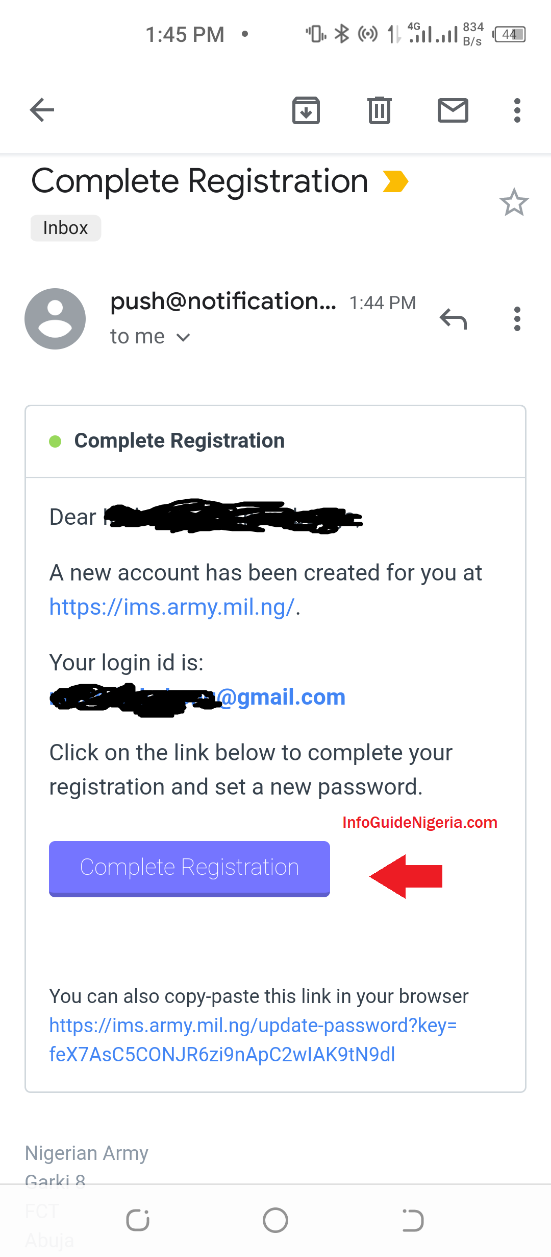 How to Register on Nigerian Army Recruitment Portal
