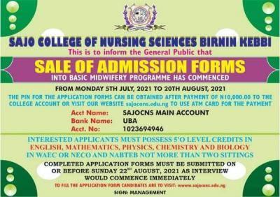Sajo College of Nursing Sciences Basic Midwifery Form