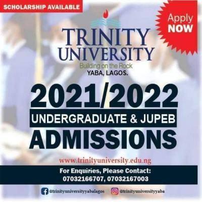 Trinity University JUPEB Admission Form