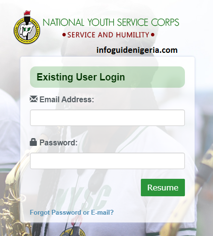 How Can I Login to My NYSC Dashboard
