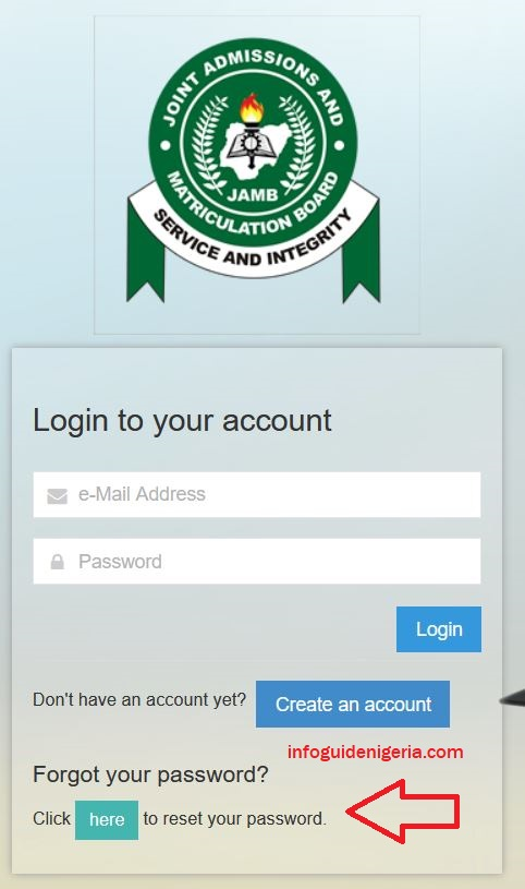 how to retrieve JAMB password