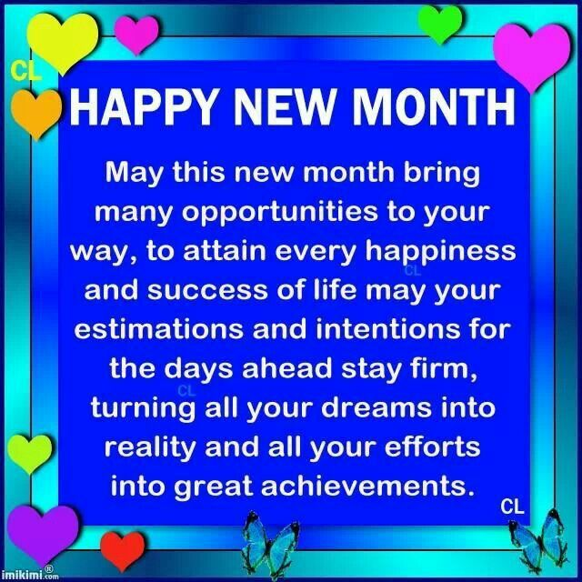 400+ Happy new month messages for everyone